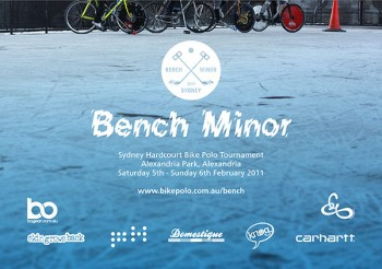 Flyer for Sydney Bench Minor