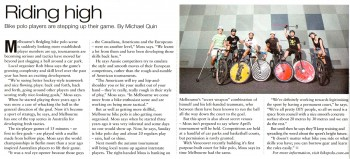 Bike Polo article in Melbourne Times