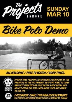 Bike Polo Demo @ The Vic