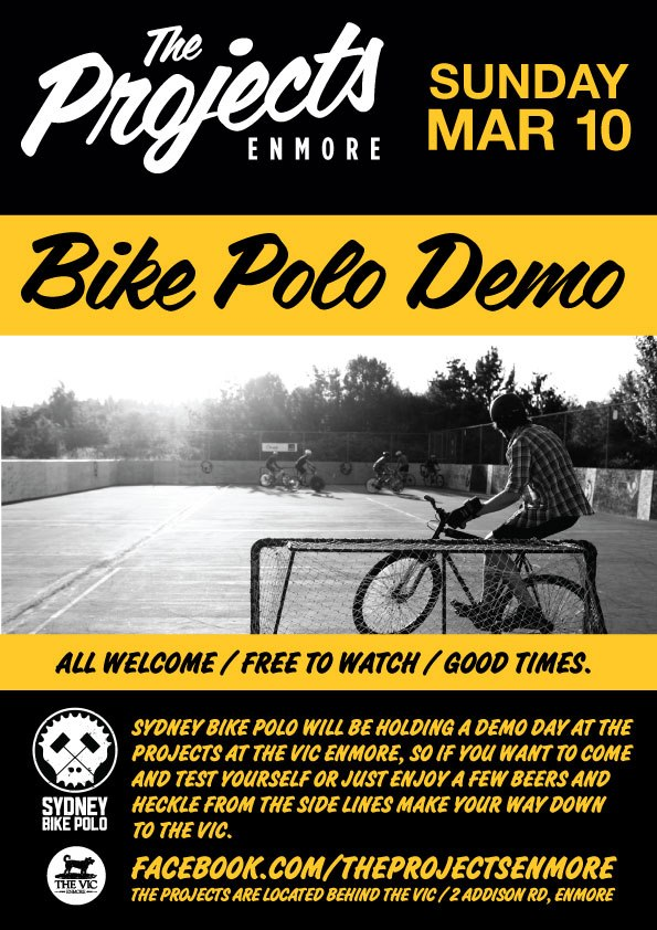Bike Polo Demo @ The Vic